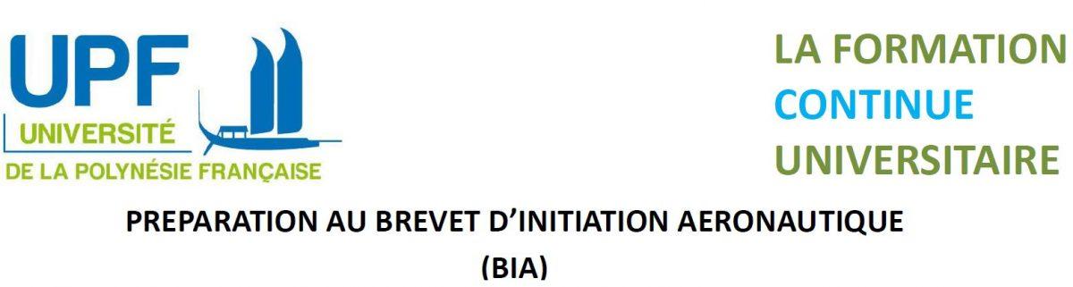 Préparation au Brevet d'Initiation Aéronautique à l'UPF